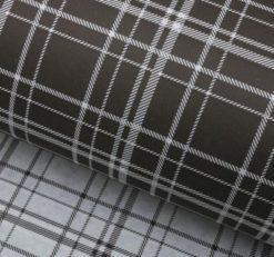 Бумага упаковочная декоративная черная клетка