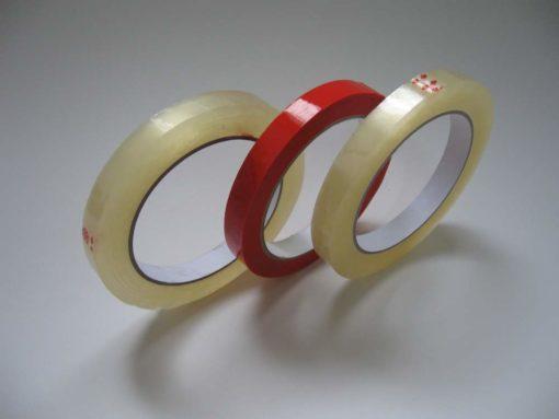 Клейкая лента для заклеивания горловины фасовочных пакетов
