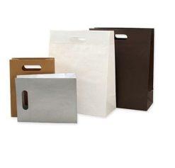 Пакеты с вырубной ручкой бумажные