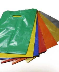 Пакеты с вырубной ручкой цветные