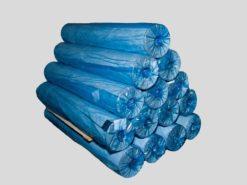 Пленка ПНД синяя (полотно) 300мм/8 мкм/10000 м.п. (для бахил)