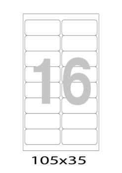 Этикетка А4, 105х35