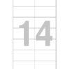 Этикетка А4, 105х42,3
