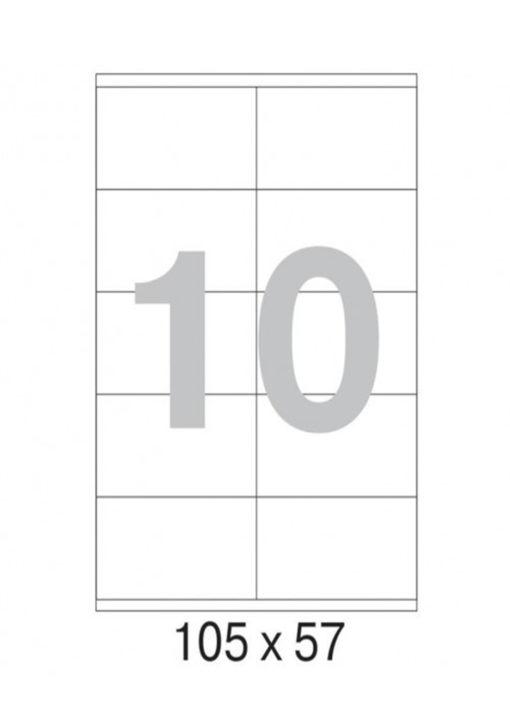 Этикетка А4, 105х57