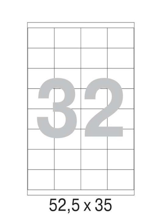 Этикетка А4, 52,5х35