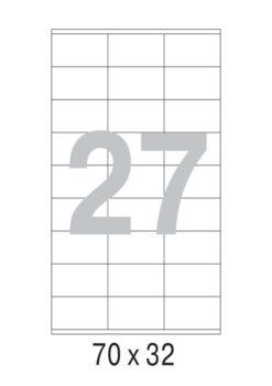 Этикетка А4, 70х32