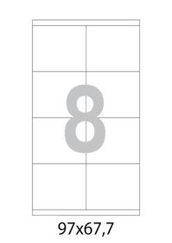 Этикетка А4, 97х67,7